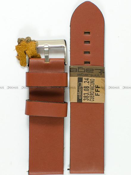 Pasek skórzany do zegarka - Diloy 383.24.8 - 24mm