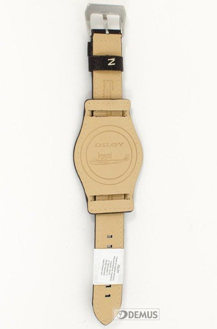 Pasek skórzany do zegarka - Diloy 386.22.2 - 22mm