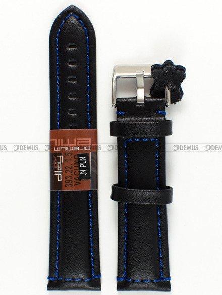 Pasek skórzany do zegarka - Diloy 393.22.1.5 - 22 mm