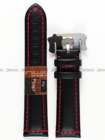 Pasek skórzany do zegarka - Diloy 393.22.1.6 - 22 mm