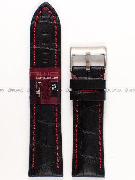 Pasek skórzany do zegarka - Diloy 395.24.1.6 - 24 mm