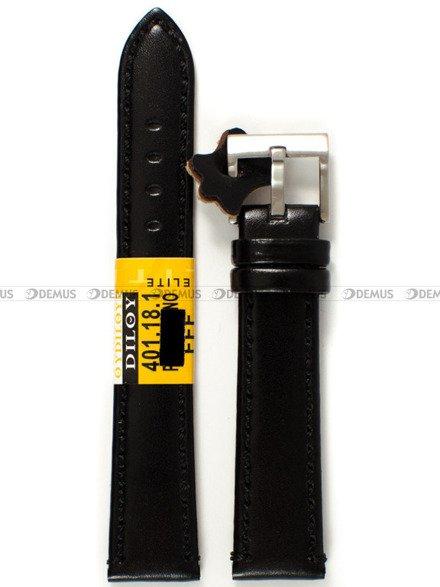 Pasek skórzany do zegarka - Diloy 401.18.1 - 18 mm