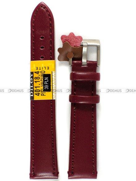 Pasek skórzany do zegarka - Diloy 401.18.4 - 18 mm