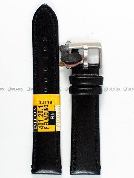 Pasek skórzany do zegarka - Diloy 401.20.1 - 20 mm