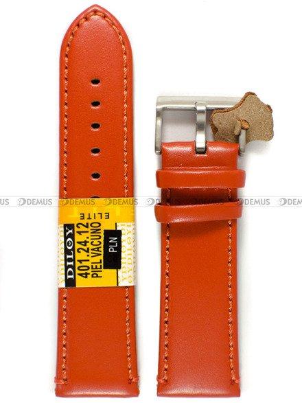 Pasek skórzany do zegarka - Diloy 401.24.12 - 24 mm