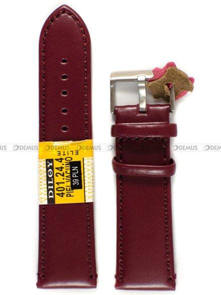 Pasek skórzany do zegarka - Diloy 401.24.4 - 24 mm