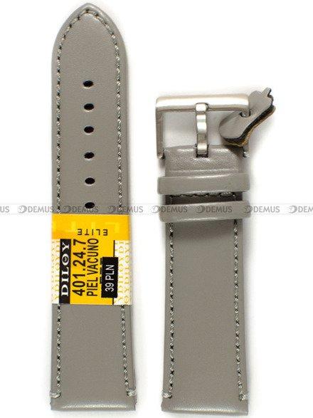 Pasek skórzany do zegarka - Diloy 401.24.7 - 24 mm