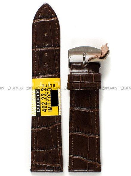 Pasek skórzany do zegarka - Diloy 402.22.2 - 22 mm