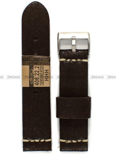 Pasek skórzany do zegarka - Diloy 406.22.2 - 22 mm