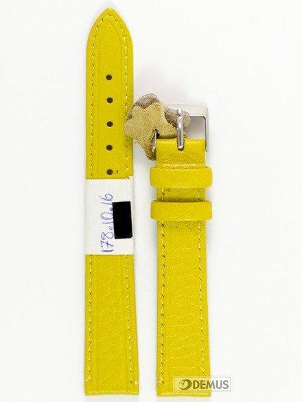 Pasek skórzany do zegarka - Diloy P178.16.10 - 16 mm