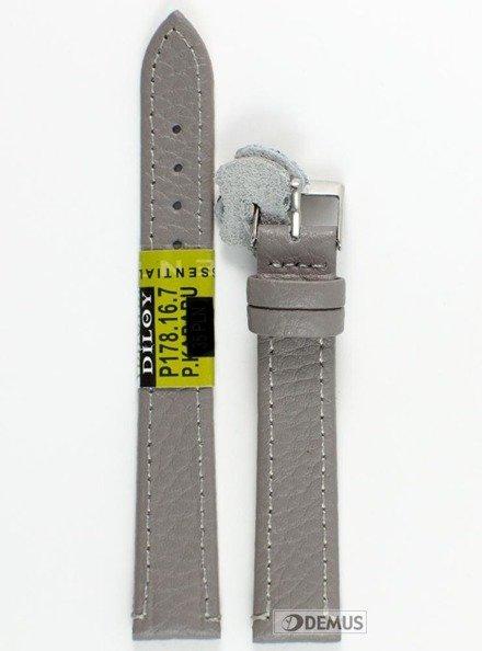 Pasek skórzany do zegarka - Diloy P178.16.7 - 16 mm