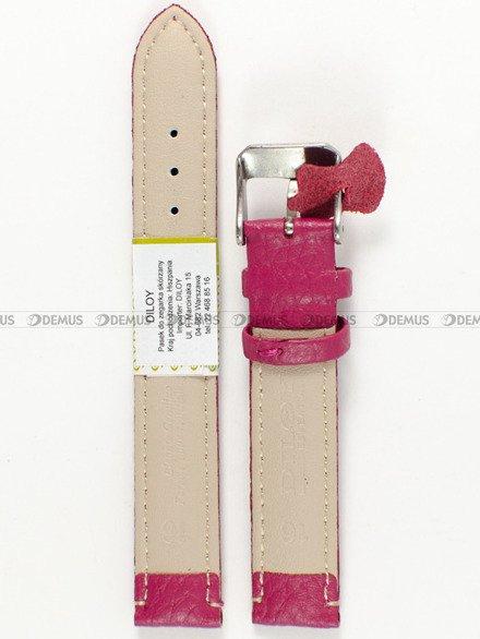 Pasek skórzany do zegarka - Diloy P205.16.14 - 16mm