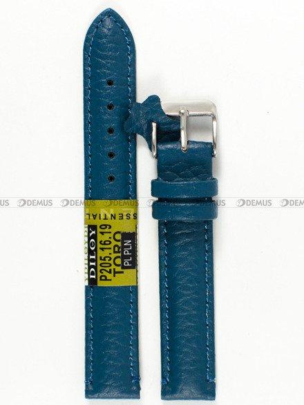 Pasek skórzany do zegarka - Diloy P205.16.19 - 16mm