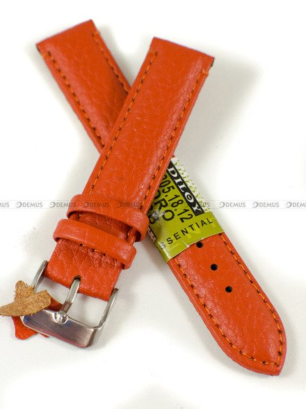 Pasek skórzany do zegarka - Diloy P205.18.12 - 18mm