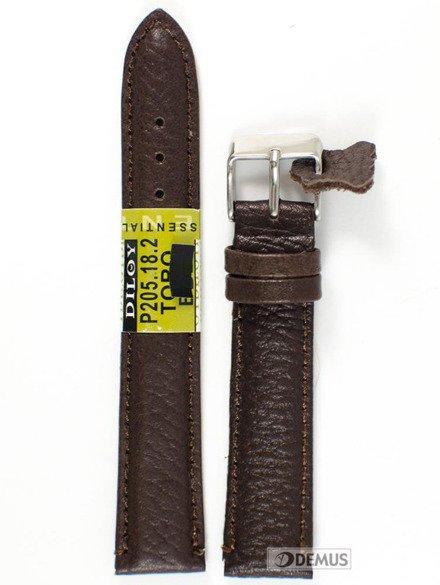 Pasek skórzany do zegarka - Diloy P205.18.2 - 18mm