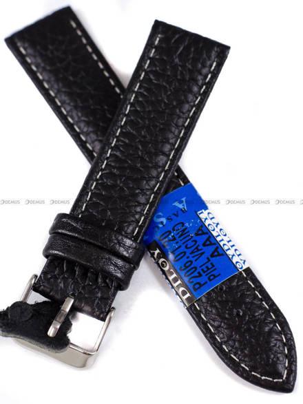 Pasek skórzany do zegarka - Diloy P206.20.1 - 20mm