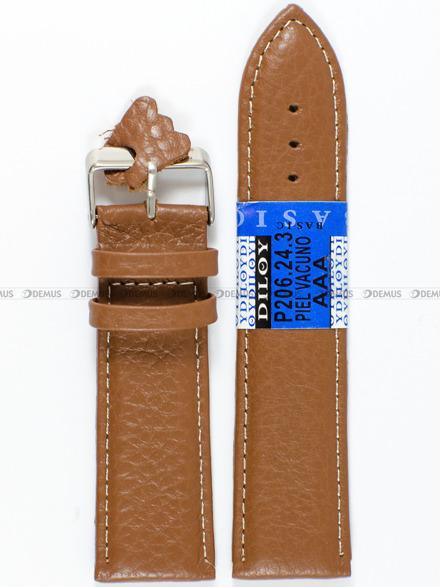 Pasek skórzany do zegarka - Diloy P206.24.3 - 24mm