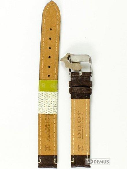 Pasek skórzany do zegarka - Diloy P206EL.14.2 - 14mm