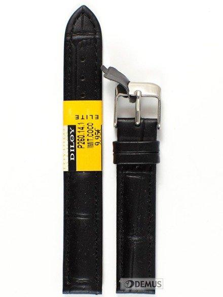 Pasek skórzany do zegarka - Diloy P260.14.1 - 14mm