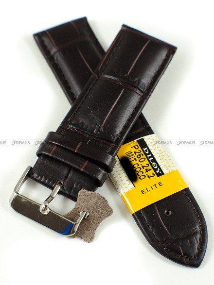 Pasek skórzany do zegarka - Diloy P260.24.2 - 24mm
