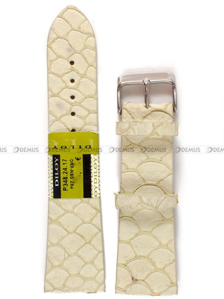 Pasek skórzany do zegarka - Diloy P348.24.17 - 24 mm