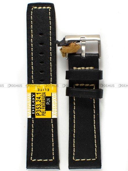 Pasek skórzany do zegarka - Diloy P353.24.1 - 24 mm