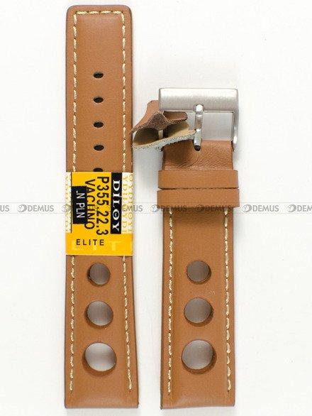 Pasek skórzany do zegarka - Diloy P355.22.3 - 22 mm