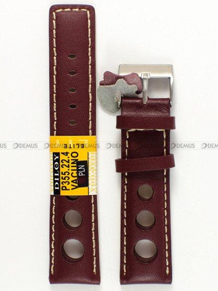 Pasek skórzany do zegarka - Diloy P355.22.4 - 22 mm
