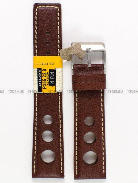 Pasek skórzany do zegarka - Diloy P355.22.9 - 22 mm