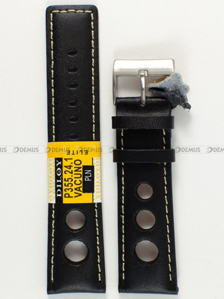 Pasek skórzany do zegarka - Diloy P355.24.1 - 24 mm
