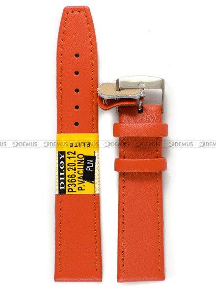 Pasek skórzany do zegarka - Diloy P366.20.12 - 20 mm