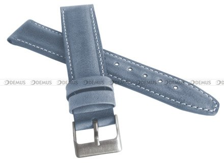 Pasek skórzany do zegarka - LAVVU LSKUJ22 - 22 mm