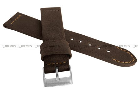 Pasek skórzany do zegarka - LAVVU LSLUC24 - 24 mm