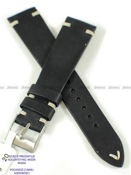 Pasek skórzany do zegarka - LAVVU LSNUB18 - 18 mm