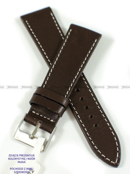 Pasek skórzany do zegarka - LAVVU LSSUC18 - 18 mm