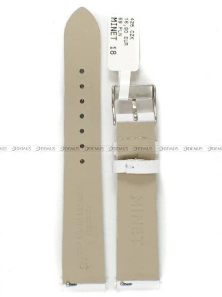 Pasek skórzany do zegarka - Minet MSSEW18 - 18 mm