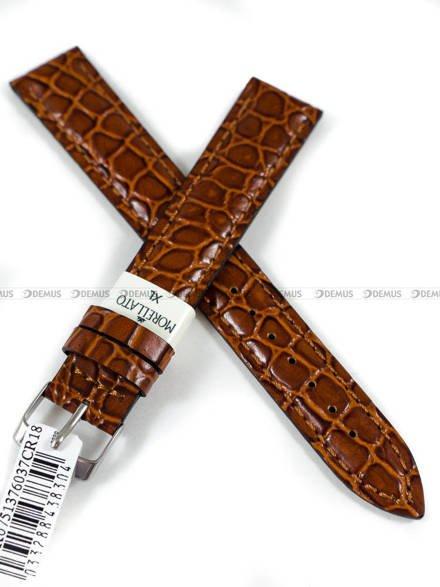 Pasek skórzany do zegarka - Morellato A01K0751376037CR18 - 18 mm - XL