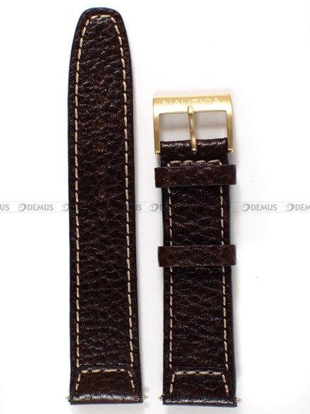 Pasek skórzany do zegarka Nautica A12544X - 22 mm