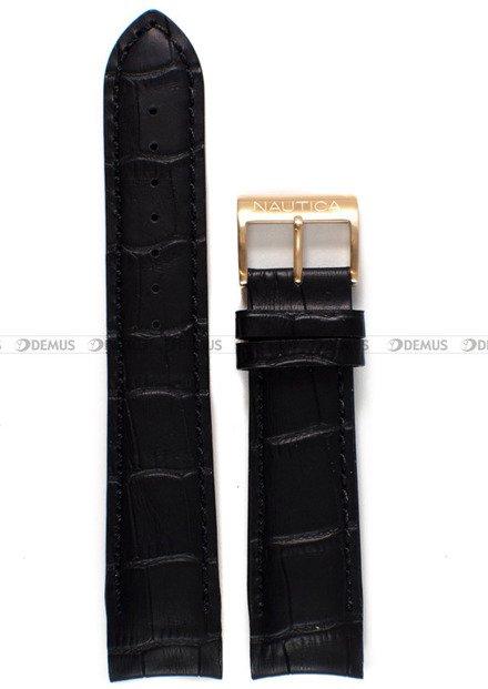 Pasek skórzany do zegarka Nautica A17511G - 22 mm