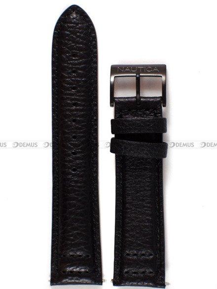 Pasek skórzany do zegarka Nautica NAD22506G - 22 mm
