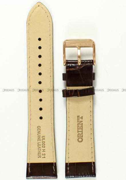 Pasek skórzany do zegarka Orient RA-AC0001S10B - UL002011P0 - 21 mm