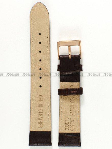 Pasek skórzany do zegarka - Orient SDB0B002T0 UDETSRC - 18 mm