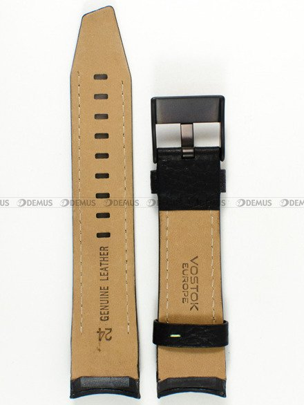 Pasek skórzany do zegarka Vostok Mriya NH35A-5554234 - 24 mm