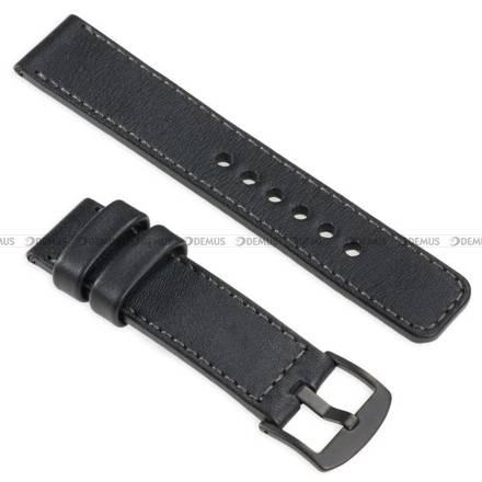 Pasek skórzany do zegarka lub smartwatcha - moVear WQU0C01GP00BKMM24BK - 24 mm