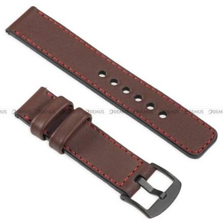 Pasek skórzany do zegarka lub smartwatcha - moVear WQU0C01RE00BKMM18B1 - 18 mm