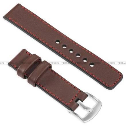 Pasek skórzany do zegarka lub smartwatcha - moVear WQU0C01RE00SLBM18B1 - 18 mm