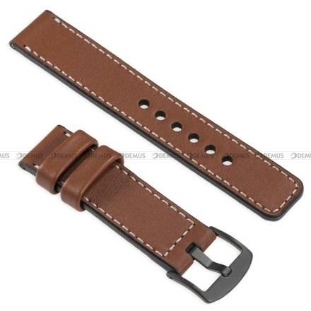 Pasek skórzany do zegarka lub smartwatcha - moVear WQU0C01SL00BKMM26B2 - 26 mm