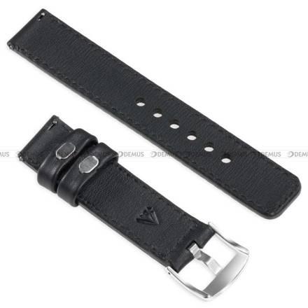 Pasek skórzany do zegarka lub smartwatcha - moVear WQU0C01SL00SLBM18BK - 18 mm