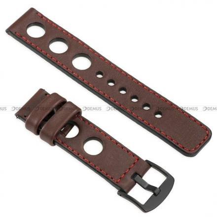 Pasek skórzany do zegarka lub smartwatcha - moVear WQU0R01RE00BKMM18B1 - 18 mm