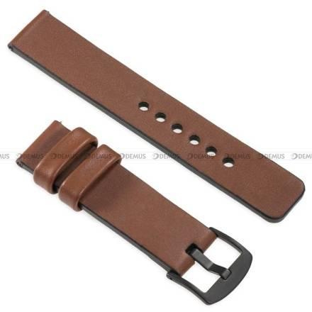 Pasek skórzany do zegarka lub smartwatcha - moVear WQU0S010000BKMM24B2 - 24 mm